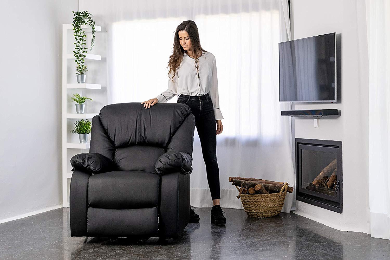 Релакс кресло (фотьойл) с масажираща функция MONACO , 9 автоматични режима, ръчен режим, 5 нива на интензивност, 4 зони за масаж, опция за загряване до 40 градуса